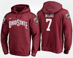 Name and Number #7 For Men's Damon Webb Ohio State Hoodie Scarlet
