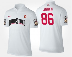 Men's Dre'Mont Jones Ohio State Polo Name and Number White #86