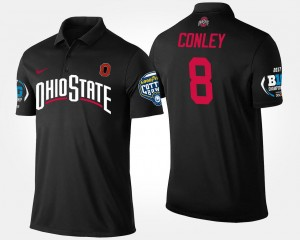 #8 Black Big Ten Conference Cotton Bowl Name and Number Bowl Game Gareon Conley Ohio State Polo Men