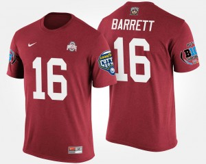 #16 J.T. Barrett Ohio State Buckeyes T-Shirt For Men Bowl Game Scarlet Big Ten Conference Cotton Bowl