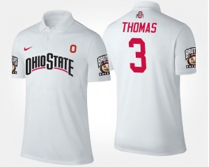 Name and Number #3 White For Men's Michael Thomas Ohio State Polo