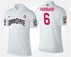 Sam Hubbard Ohio State Buckeyes Polo Mens Name and Number #6 White