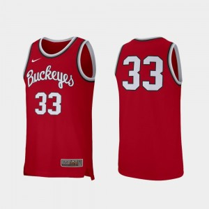 Retro Performance Nike College Basketball Ohio State Jersey Mens Scarlet #33