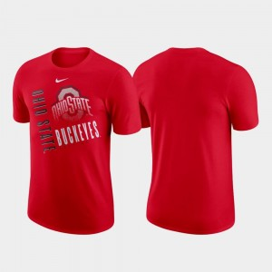 Nike Performance Cotton Ohio State Buckeyes T-Shirt Men's Just Do It Scarlet