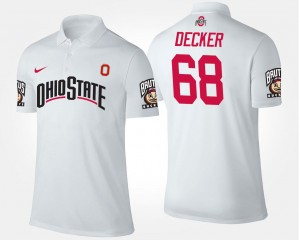 For Men's Taylor Decker Ohio State Polo #68 Name and Number White