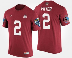 Terrelle Pryor Ohio State Buckeyes T-Shirt Scarlet #2 For Men's Bowl Game Big Ten Conference Cotton Bowl