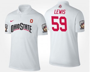 For Men Name and Number #59 White Tyquan Lewis Ohio State Buckeyes Polo