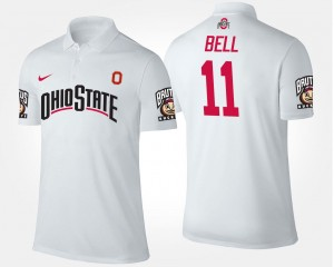 Name and Number White Vonn Bell OSU Buckeyes Polo #11 For Men