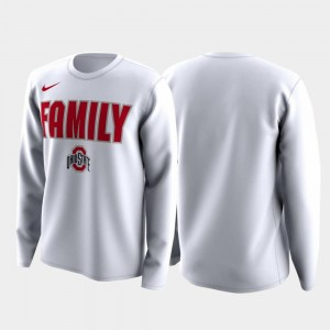 Family on Court Ohio State T-Shirt March Madness Legend Basketball Long Sleeve For Men White