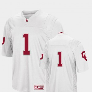 Mens Colosseum Authentic OU Jersey #1 College Football White