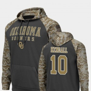 #10 Colosseum Football Men's Austin Kendall OU Sooners Hoodie United We Stand Charcoal