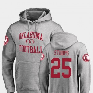 Men's #25 Ash Fanatics Branded College Football Drake Stoops OU Sooners Hoodie Neutral Zone