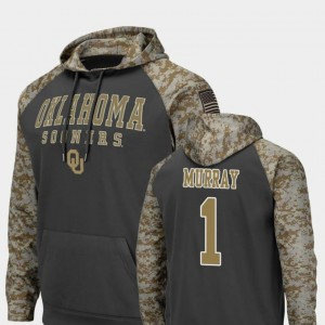 #1 Colosseum Football Kyler Murray Oklahoma Hoodie United We Stand For Men Charcoal