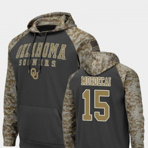 #15 United We Stand Colosseum Football For Men's Tanner Mordecai Sooners Hoodie Charcoal