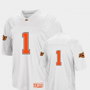 #1 Oklahoma State University Jersey For Men's White Colosseum 2018 College Football
