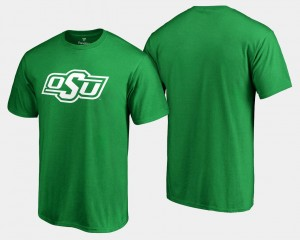 For Men's OSU T-Shirt White Logo Big & Tall St. Patrick's Day Kelly Green