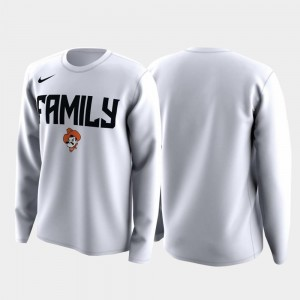 White March Madness Legend Basketball Long Sleeve Family on Court Men's Oklahoma State T-Shirt
