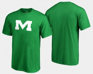 Kelly Green For Men's White Logo Big & Tall St. Patrick's Day Ole Miss T-Shirt