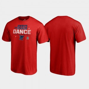 Red Ole Miss Rebels T-Shirt For Men's March Madness 2019 NCAA Basketball Tournament Big Dance