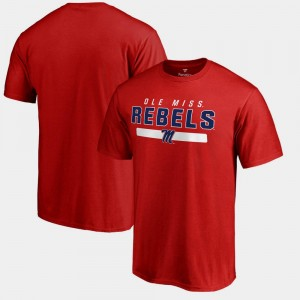 Fanatics Branded Ole Miss T-Shirt For Men's Red Team Strong