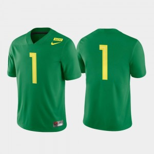 College Football For Men's University of Oregon Jersey #1 Apple Green Game Nike
