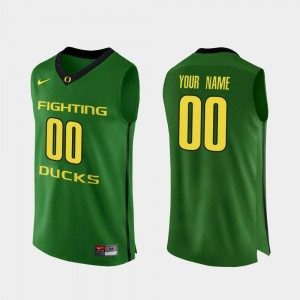 College Basketball Apple Green UO Custom Jersey #00 Authentic Mens