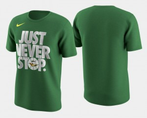 March Madness Selection Sunday Ducks T-Shirt Men's Kelly Green Basketball Tournament Just Never Stop