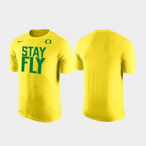 Ducks T-Shirt Yellow For Men's Nike Stay Fly Local Shooting