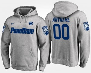 Name and Number Gray #00 For Men's Penn State Nittany Lions Custom Hoodie