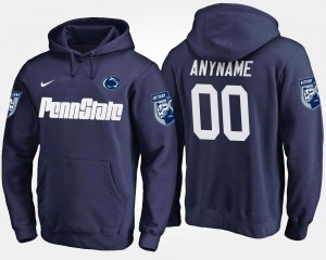 Penn State Nittany Lions Customized Hoodie For Men's Name and Number #00 Navy