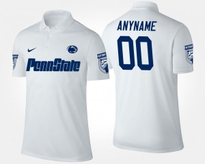 Penn State Customized Polo Name and Number #00 Mens White