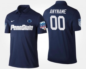 #00 Navy Bowl Game Penn State Customized Polo Fiesta Bowl Name and Number Men