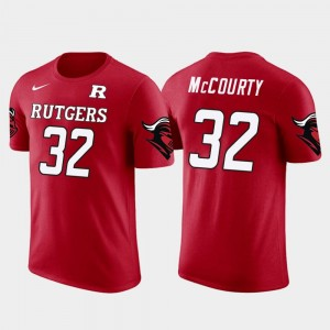 For Men #32 Red Future Stars Devin McCourty Rutgers T-Shirt New England Patriots Football