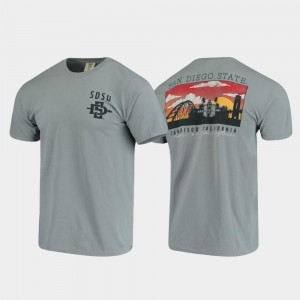 San Diego State T-Shirt Comfort Colors Men Campus Scenery Gray