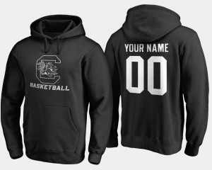 #00 Basketball Mens Black Name and Number Gamecocks Customized Hoodie