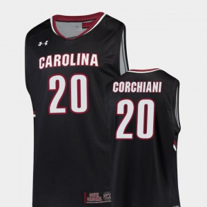 College Basketball Replica #20 Tommy Corchiani Gamecocks Jersey For Men Black