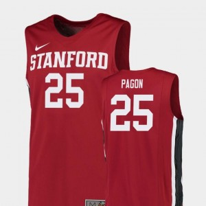 #25 Replica Red College Basketball Men's Blake Pagon Stanford Jersey