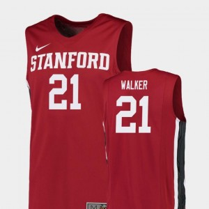 #21 College Basketball Cameron Walker Stanford Cardinal Jersey Replica For Men's Red