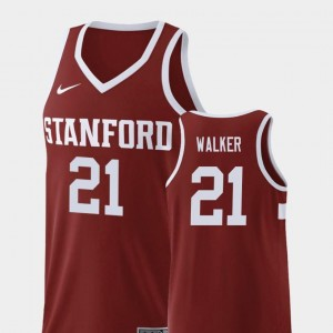 College Basketball Wine For Men's #21 Cameron Walker Stanford Jersey Replica