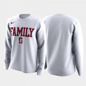 Family on Court Cardinal T-Shirt White For Men March Madness Legend Basketball Long Sleeve
