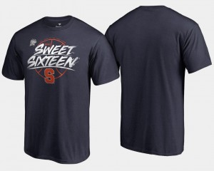Navy Syracuse Orange T-Shirt 2018 March Madness Basketball Tournament Backdoor For Men Sweet 16 Bound