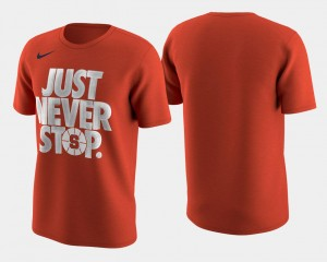 Basketball Tournament Just Never Stop Cuse Orange T-Shirt Men's Orange March Madness Selection Sunday