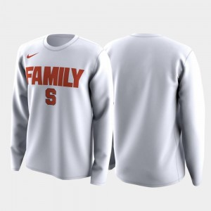 White Cuse Orange T-Shirt Family on Court Mens March Madness Legend Basketball Long Sleeve