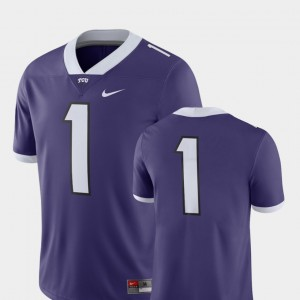 College Football #1 Horned Frogs Jersey Purple Men's 2018 Game Nike
