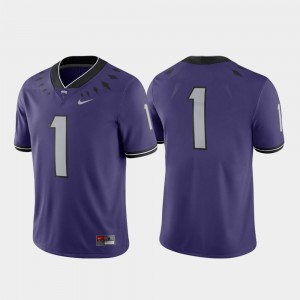 Purple Game TCU Horned Frogs Jersey #1 College Football Nike For Men's