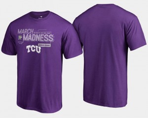 Purple 2018 March Madness Bound Airball TCU Horned Frogs T-Shirt Basketball Tournament Mens