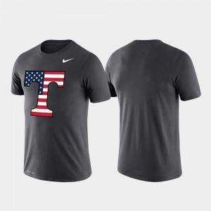 Tennessee T-Shirt For Men Americana Legend Anthracite Performance