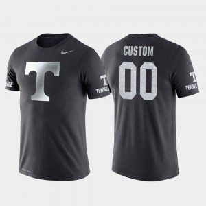 Travel Tennessee Vols Customized T-Shirt College Basketball Performance Anthracite Mens #00