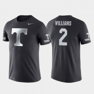 #2 College Basketball Performance Anthracite Grant Williams Vols T-Shirt Mens Travel