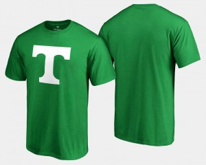 White Logo Big & Tall Tennessee Vols T-Shirt For Men St. Patrick's Day Kelly Green